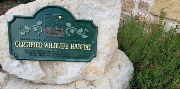 certified wildlife habitat plaque